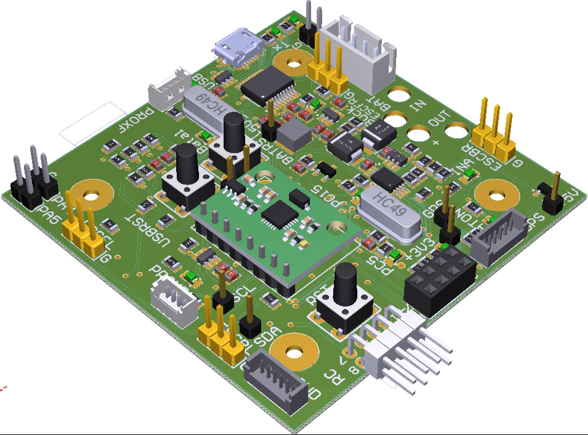 Quadcopter controller board